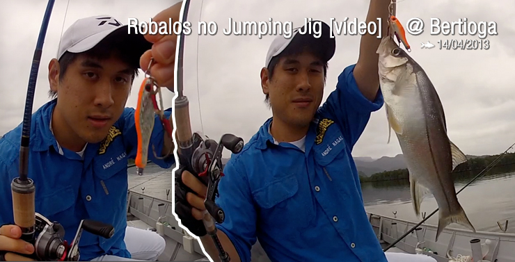 Robalos no Jumping Jig [vídeo] @ Bertioga