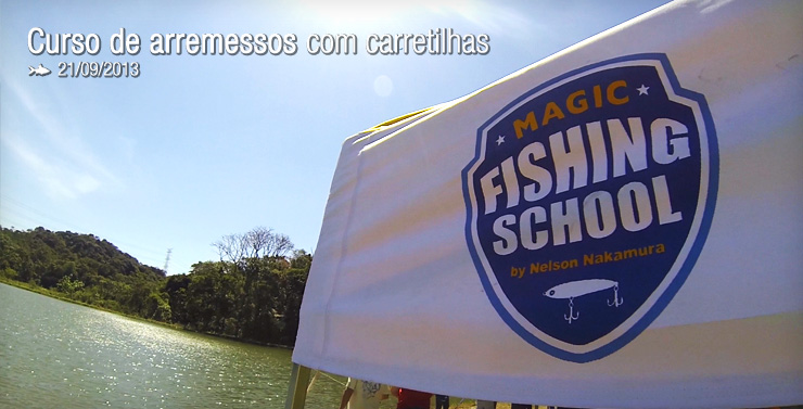 Magic Fishing School – Curso de arremesso com iscas artificiais