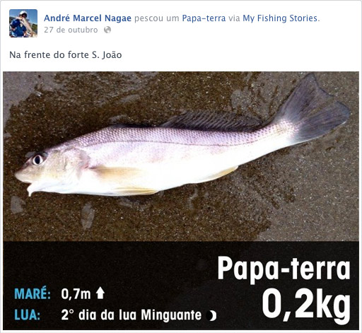 Compartilhamento do Fish-In no Facebook